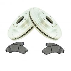 Front Performance Rotor & Posi Metallic Pad Kit for 92-01 Toyota Camry 2.2L