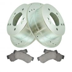 Rear Performance Rotor & Premium Posi Ceramic Brake Pad Kit for 06-08 Sonata, 06-10 Optima