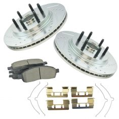 Front  Performance Rotor & Premium  Posi Ceramic Brake Pad for 05-08 F150,06-08 Mark LT