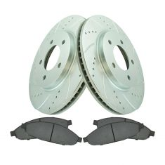 Front Performance Rotor & Premium Posi Ceramic Pad for 04-08 Chrysler Pacifica