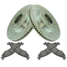 Front Performance Rotor & Premium Posi Semi Metallic  Pad for 06-10 Explorer, 06-10 Mountaineer