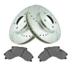 Front Performance Rotor & Premium Posi Ceramic Brake Kit for 07-09 Equinox, 07-09 Torrent, 08-10 Vue