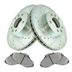 Front Performance Rotor & Premium Posi Semi Metallic Brake Kit for 98-02 Crown Vic, 98-02 Town Car