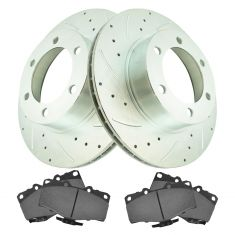 Front Performance Rotor & Premium Posi Ceramic Brake Kit for 96-02 4Runner