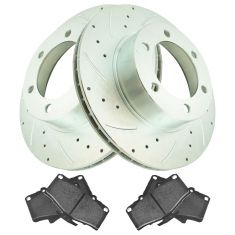 Front Performance Rotor & Premium Posi Semi Metallic  Brake Kit for 96-02 4Runner