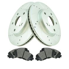 Front Performance Rotor & Premium Posi Semi Metallic Brake Kit for 10-12 HS250h, 08-15 xB