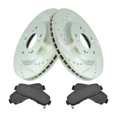 Front Performance Rotor & Premium Posi Ceramic Brake Kit for 07-12 RDX, 07-11 CR-V,10-12 Crosstour