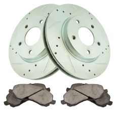 Front Performance Rotor & Premium Posi Ceramic Brake Kit for 07-12 Caliber, 08-12 Lancer