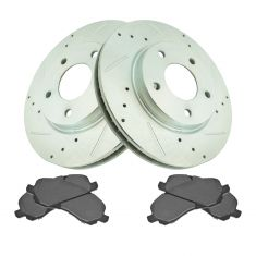 Front Performance Rotor & Premium Posi Semi Metallic  Brake Kit for 07-12 Caliber, 08-10 Lancer