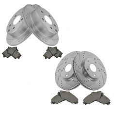 06-12 Toyota Rav4 w.3rd Row Front & Rear Premium Posi Ceramic Pad & Performance Rotor Kit