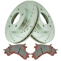 Front Performance Rotor & Premium Posi Ceramic Brake Kit for 93-97 Probe, 94-02 626, 93-97 MX6