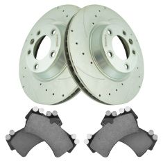 Front Performance Rotor & Premium Posi Ceramic Brake Kit for 07-15 Audi Q7, 04-08 Touareg