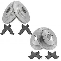 Front & Rear Performance Rotor & Posi Ceramic Pad Kit for 06-10 Explorer, 07-10 Explorer Sport Trac