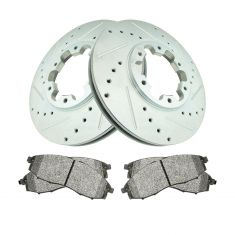 03-04  Frontier 4WD, 00-04  Xterra Front Performance Rotor & Semi Metallic Brake Pad Kit Set