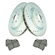 Rear Performance Rotor & Posi Ceramic Brake Pad Kit Set,09-14 Cadillac CTS-V