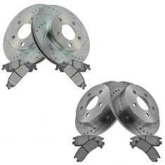 99-04 Alero; 99-05 Grand AM Front & Rear Performance Brake Rotor & Metallic Pad Kit