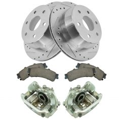 99-02 Siverado 1500 Tahoe NEW Rear Caliper, Ceramic Pad & Peformance Rotor Kit