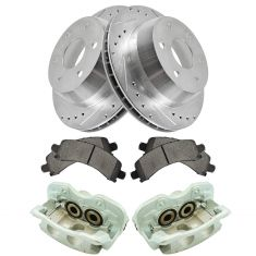 03-14 Express 1500 Tahoe NEW Rear Caliper, Ceramic Pad & Peformance Rotor Kit