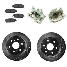 07-15 Silverado 1500 NEW Rear Brake Caliper, Ceramic Pad & Peformance Rotor Kit