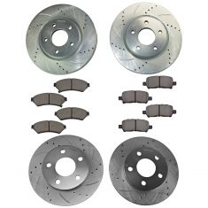 05-09 Lacrosse, Grand Prix, Front & Rear Performance Brake Rotor & Metallic Pad Kit