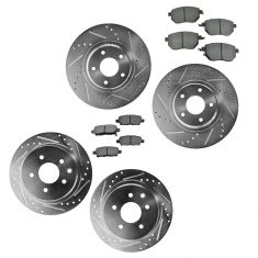 02-13 Altima; 04-08 Maxima Front & Rear Performance Disc Brake Rotor & Metallic Kit