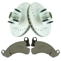 87-93 Ford Mustang Front Semi Metallic Brake Pad & Performance Rotor Kit