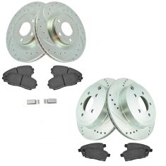 07-10 Edge, MKX AWD Front & Rear Premium Posi Ceramic Brake Pad & Performance Rotor Kit