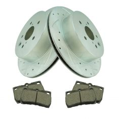 06 GS300, 07-11 GS350, 06-07 GS430, 07-11 GS450h,Rear Performance Rotor & Ceramic Pad Kit