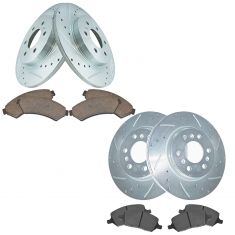 06-08 GM Mid Size SUV Front & Rear Premium Posi Ceramic Disc Brake Pad & Performance Rotor Kit