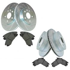 GM Mid Size SUV Front & Rear Posi Ceramic Brake Pad & Performance Rotor Kit