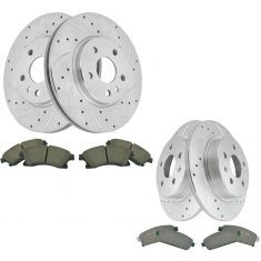 11-16 Chevy Cruze Front & Rear Perfromace Brake Rotor & Ceramic Pad Kit