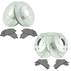 06-08 Eclipse 2.4L; 04-06 Galant 3.8L Front & Rear Posi Semi Metallic Pad & Performance Rotor Kit