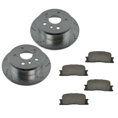 02-06 Toyota Camry; 02-03 Lexus ES300; 04-06 ES330 Rear Posi Ceramic Pad & Performance Rotor Kit