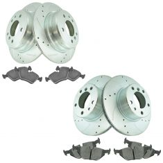 89-95 525i 93 525iT94-95 530i Front & Rear Premium Posi Ceramic Brake Pad & Performance Rotor Kit