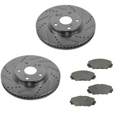 09-10 Vibe; 11-16 tC; 09-13 Matrix 2.4L; 06-13 Rav4 Front Posi Ceramid Pad & Performance Rotor Kit