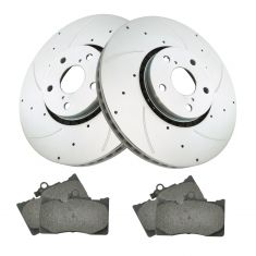 Lexus Multifit Front Premium Posi Ceramic Disc Brake Pads & Performance Rotor Kit