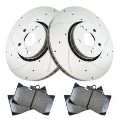 Lexus Multifit Front Premium Posi Semi Metallic Disc Brake Pads & Performance Rotor Kit