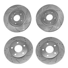 05-09 Allure; 05-09 Lacrosse; 04-08 Grand Prix Front & Rear Performance Disc Brake Rotor Kit