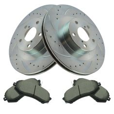 13-14 FR-S 13-14 BRZ 14-Forester 11-14 Impreza Front Performance Rotor & Posi Ceramic Pad Kit Set