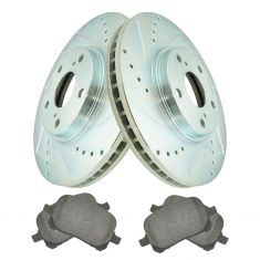 99-01 RX300 Front Performance Rotor & Posi Ceramic Pad Kit Set