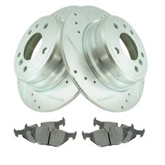 89-95 525i, 93 528iT, 94-95 530i, 89-93 535i, Rear Performance Rotor & Premium Posi Ceramic Pad Kit