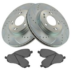 11-13 200; 08-10 Seabring; 07-13 Outlander Front Performance Rotor & Metallic Pad Kit