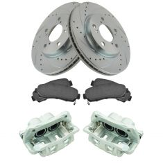 05-10 Honda Odyssey, Front Brake Caliper, Ceramic Brake Pad & Peformance Rotor Kit