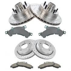 94-96 Chevy Impala SS Front & Rear Perfromance Brake Rotor & Ceramic Pad Kit