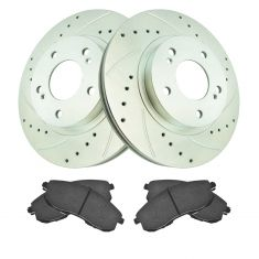 01 I30; 01 Maxima Front Premium Posi Ceramic Brake Pad & Performance Rotor Kit