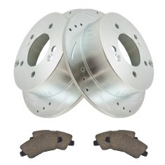 09-10 Sonata 2.4L Rear Premium Posi Ceramic Pad & Performance Rotor Kit