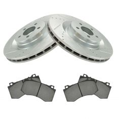 Chrysler Dodge Jeeo SRT-8 Front Premium Posi Ceramic Brake Pad & Performance Rotor Kit