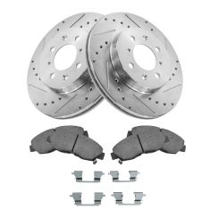 96-05 Civic; 10-14 Insight Front Posi Ceramic Pad, Performance Rotors & Caliper Hardware Kit