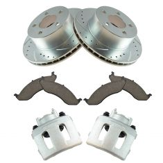 Jeep Multifit Front Premium Posi Ceramic Pad Performance Rotor & Caliper Kit