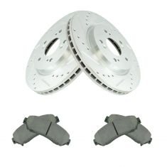 12-16 CR-V AWD; 12-15 Crosstour Front Posi Ceramic Pad & Performane Rotor Kit